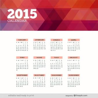Veelhoekige 2015 calendar