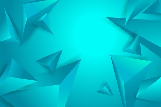 Veelhoekige 3d achtergrond met blauwe monochome tonen