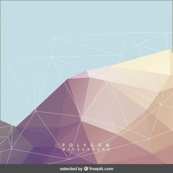 Veelhoekige achtergrond in pastel kleuren