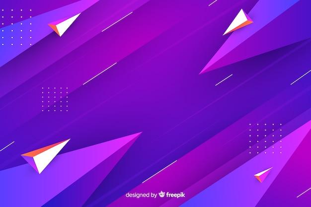 Veelhoekige achtergrond met kleurovergang geometrische vormen