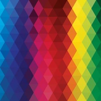 Veelhoekige achtergrond met regenboogkleuren