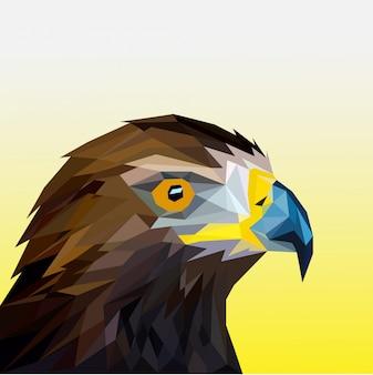 Veelhoekige adelaarshoofd