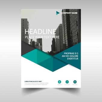 Veelhoekige corporate brochure template