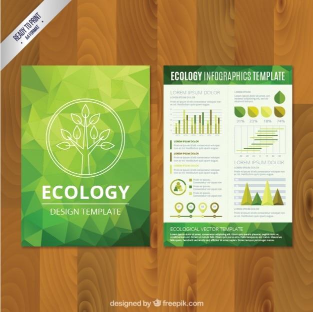 Veelhoekige eco brochure