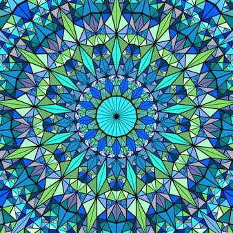Veelhoekige geometrische kleurrijke cirkelvormige mozaïek mandala achtergrond