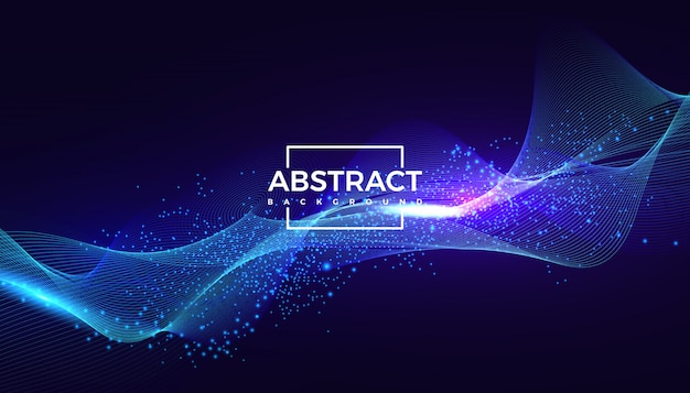 Veelhoekige golf deeltje abstracte achtergrond verbinden stippen en lijnen.