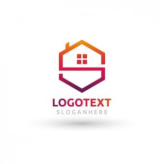 Veelhoekige huis logo