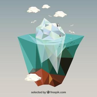 Veelhoekige ijsberg