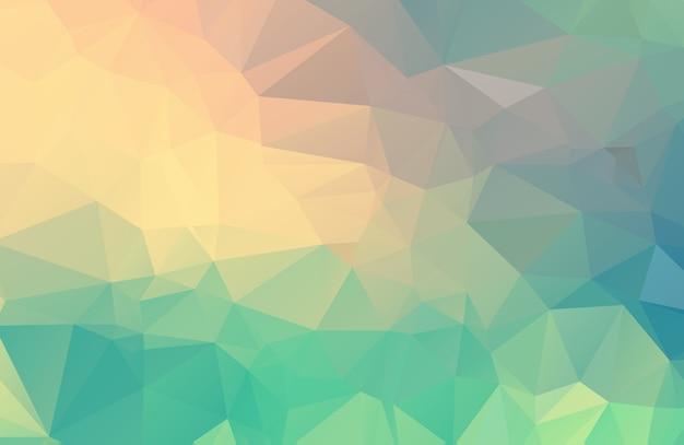 Veelhoekige illustratie van de pastelkleur, die uit driehoeken bestaat. geometrische achtergrond in origamistijl met gradiënt. driehoekig ontwerp voor uw bedrijf.