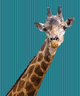 Veelhoekige illustratie van het hoofd van de giraf