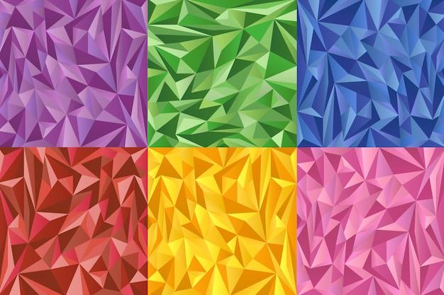 Veelhoekige kleurenachtergronden