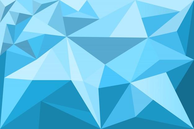 Veelhoekige mozaïekblauwe achtergrond, laag poly