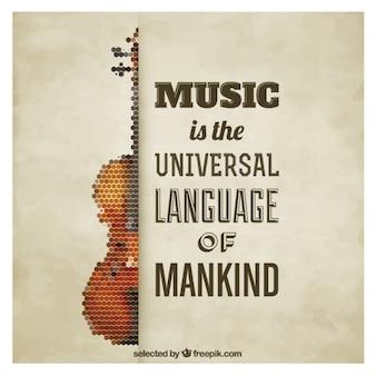 Veelhoekige viool quote poster
