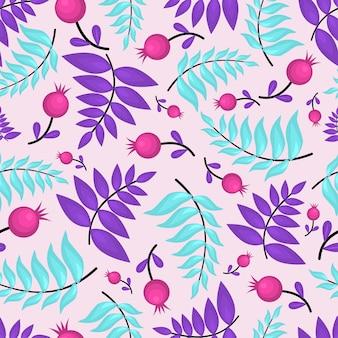 Veelkleurig bloemenpatroon. platte vectorillustratie.