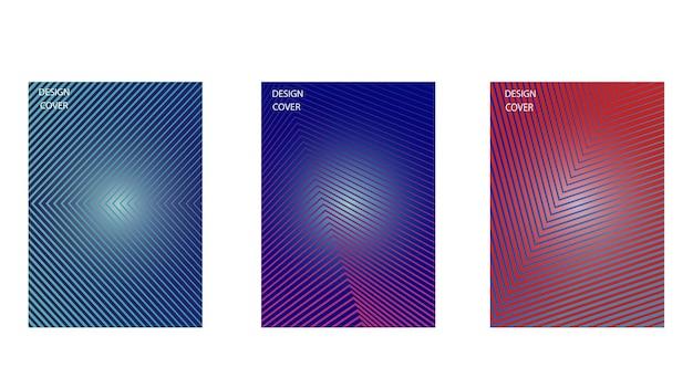 Veelkleurige abstracte vector achtergronden van lijnen.