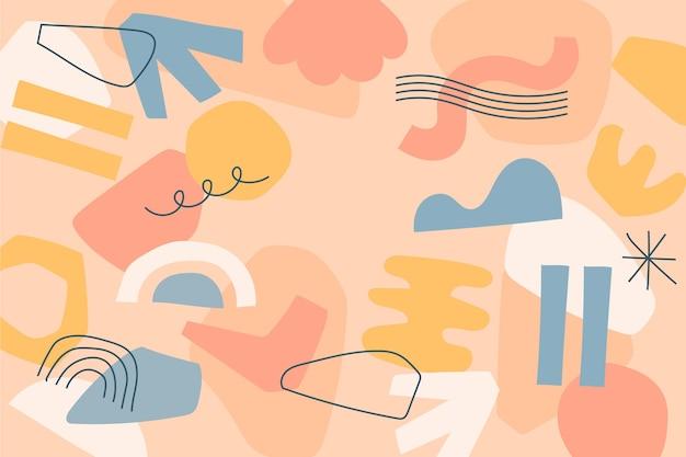 Veelkleurige achtergrond met abstracte vormen