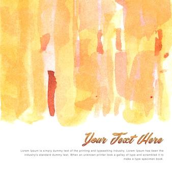 Veelkleurige aquarel achtergrond sjabloon met warme tinten