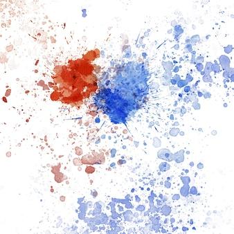 Veelkleurige aquarel splash vlek, splatter