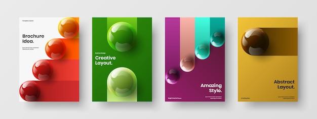 Veelkleurige bedrijfsidentiteit ontwerp vector lay-out set