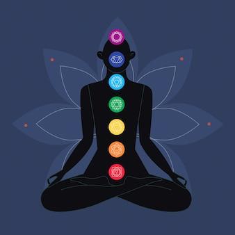 Veelkleurige chakra's concept