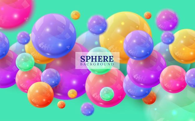 Veelkleurige decoratieve ballen. samenvatting.