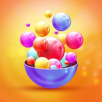 Veelkleurige decoratieve ballen