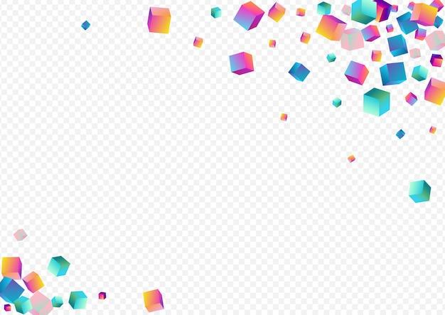 Veelkleurige element vector transparante achtergrond. heldere stijl baksteen behang. abstracte ruit sjabloon. holografische blok geometrische brochure.