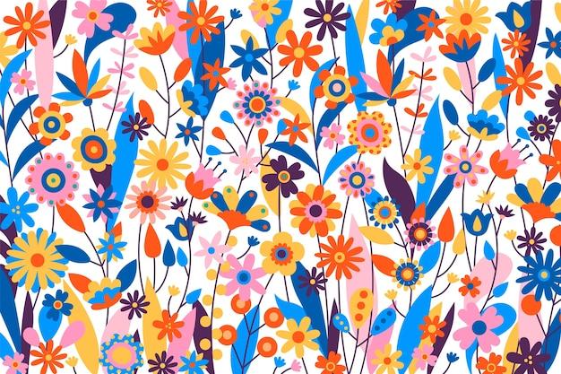 Veelkleurige exotische bloemenachtergrond