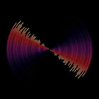 Veelkleurige geluidsgolf van equalizerachtergrond