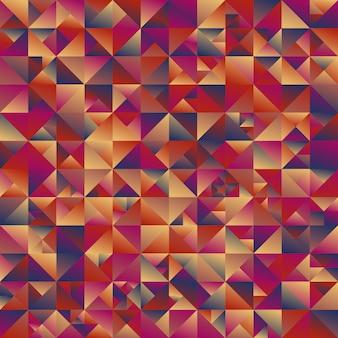 Veelkleurige geometrische veelhoekige abstracte driehoek achtergrond