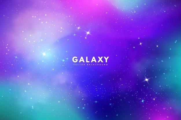 Veelkleurige melkwegachtergrond met sterren