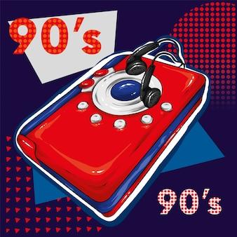 Veelkleurige retro audiospeler