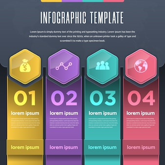 Veelkleurige verloop infographic