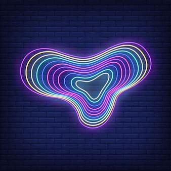Veelkleurige vloeiende figuur in neon stijl