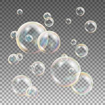 Veelkleurige zeepbellen