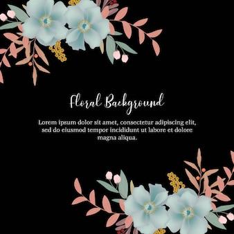 Veelvoudige bloemenachtergrond met blauwe bloemdecoratie