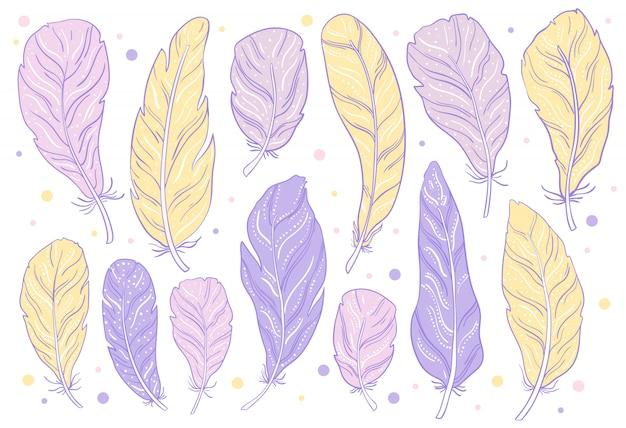 Veer paars geel set