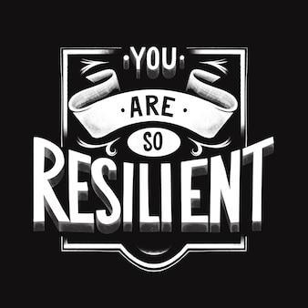 Veerkracht - belettering