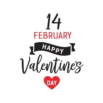 Veertien februari valentijnsdag belettering