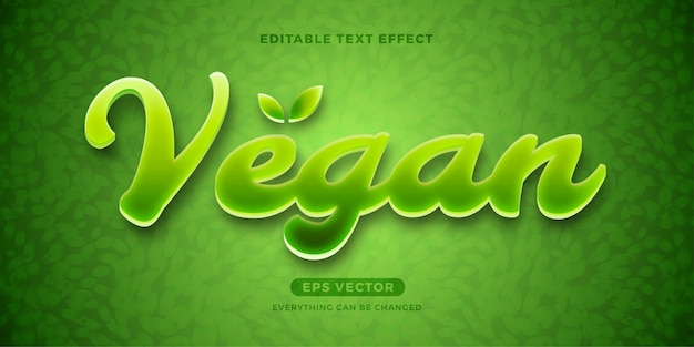 Vegan bewerkbare tekst