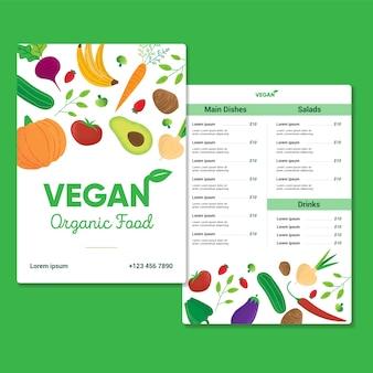 Veganistisch biologisch voedsel sjabloon