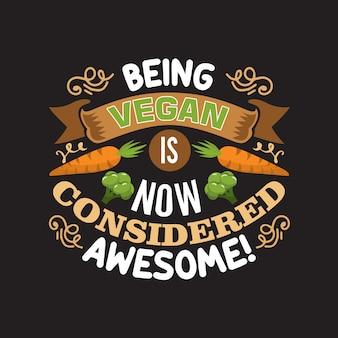 Veganistisch citaat en goed zeggen voor designcollecties