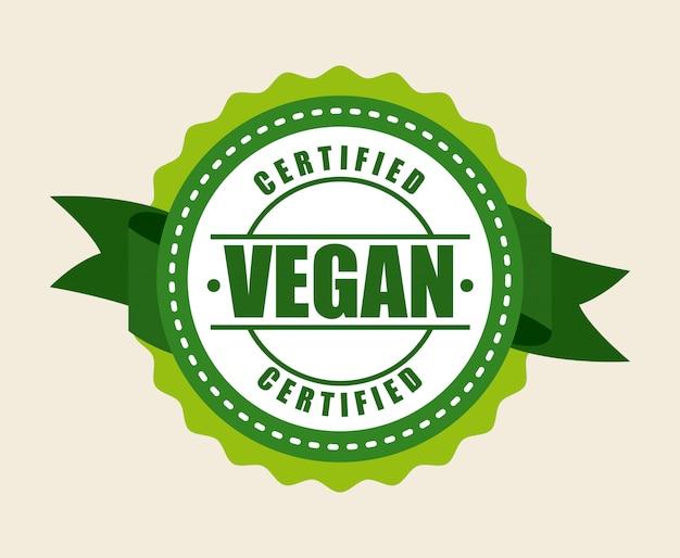 Veganistisch eten over witte achtergrond vectorillustratie