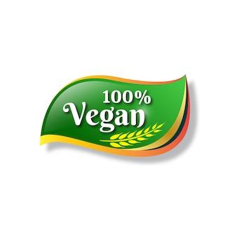 Veganistisch label voedsel logo-ontwerp