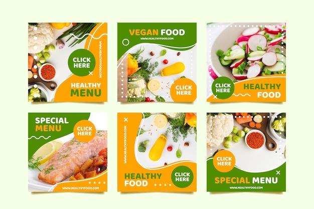 Veganistisch menu sociale media plaatsen