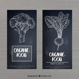 Veganistisch restaurant menu