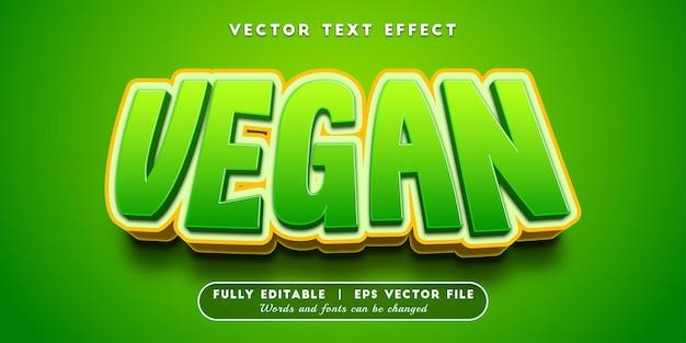 Veganistisch teksteffect, bewerkbare tekststijl