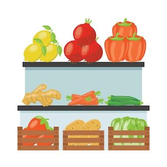 Vegetable street stall premium