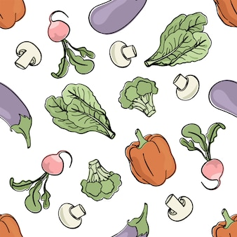 Vegetariaan mix paleo naadloos patroon