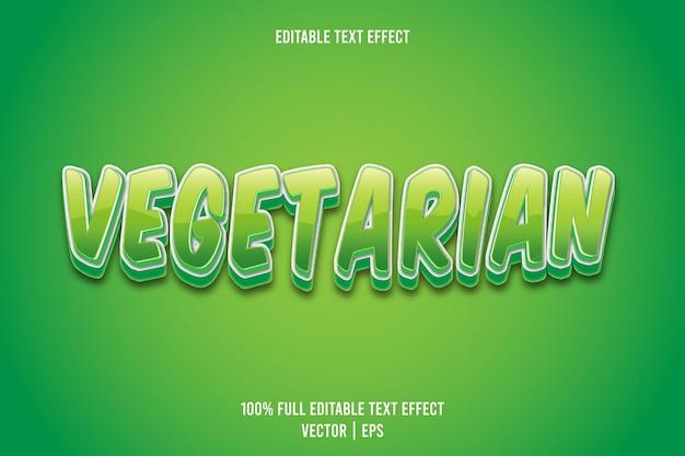 Vegetarisch bewerkbaar teksteffect 3-dimensionaal reliëf cartoonstijl